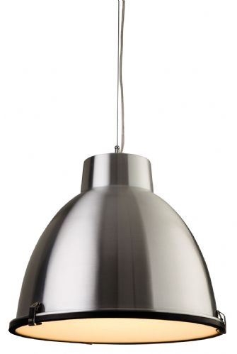 Firstlight 8621AL Aluminium with Frosted Glass Manhattan Pendant